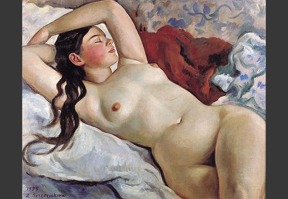 Reclining Nude,  Zinaida Serebriakova. 1935
