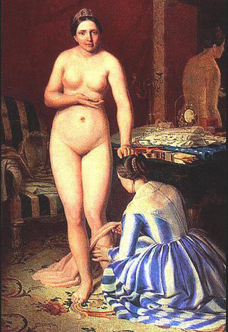 Diana Dressing, Alexey Venetsianov. 1840
