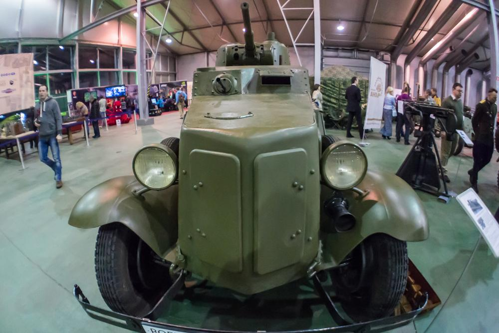 This Soviet BA-10 armored car from the 16th Tank Brigade was destroyed in the battle for Pogostye station during the Luban offensive in 1942. It was discovered 70 years later and has been completely restored.