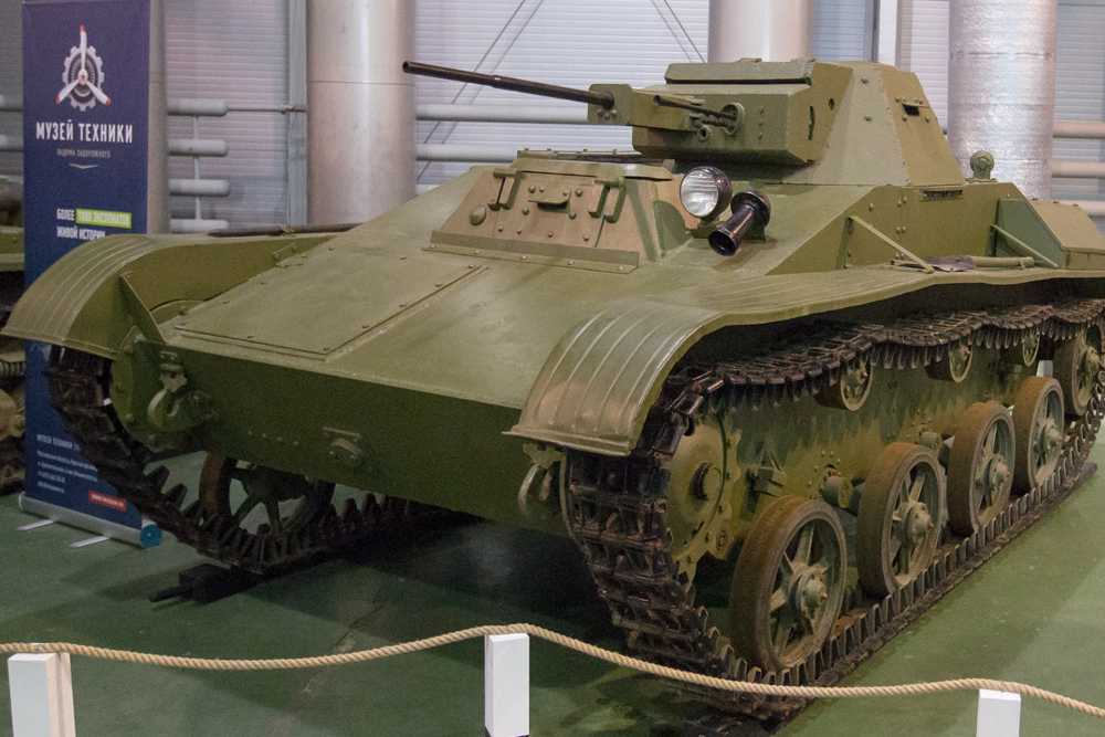 The Soviet T-60 light tank was developed in August 1941 and put into service just one month later.