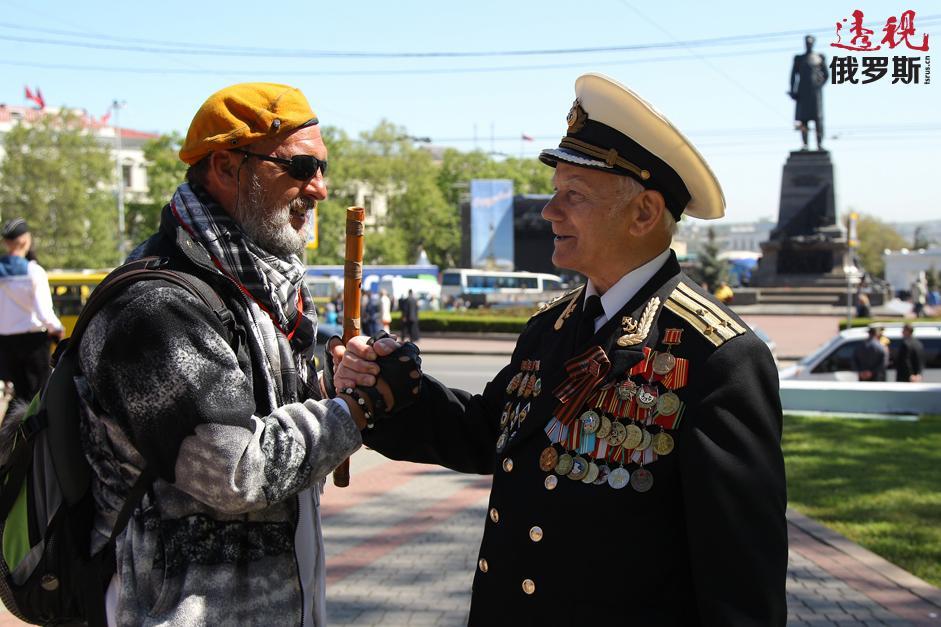 克里米亚,塞瓦斯托波尔。拍摄日期:2014年5月8日。