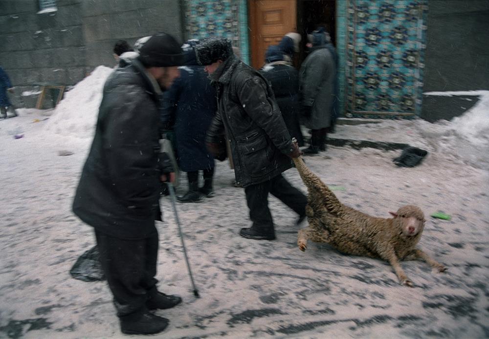 Célébration de l'Aïd al-Adha, Saint-Pétersbourg, 2004.