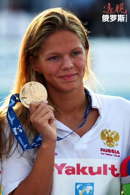 """2008年被俄罗斯泳协评为俄最佳游泳运动员和""""年度新发现""""。"""