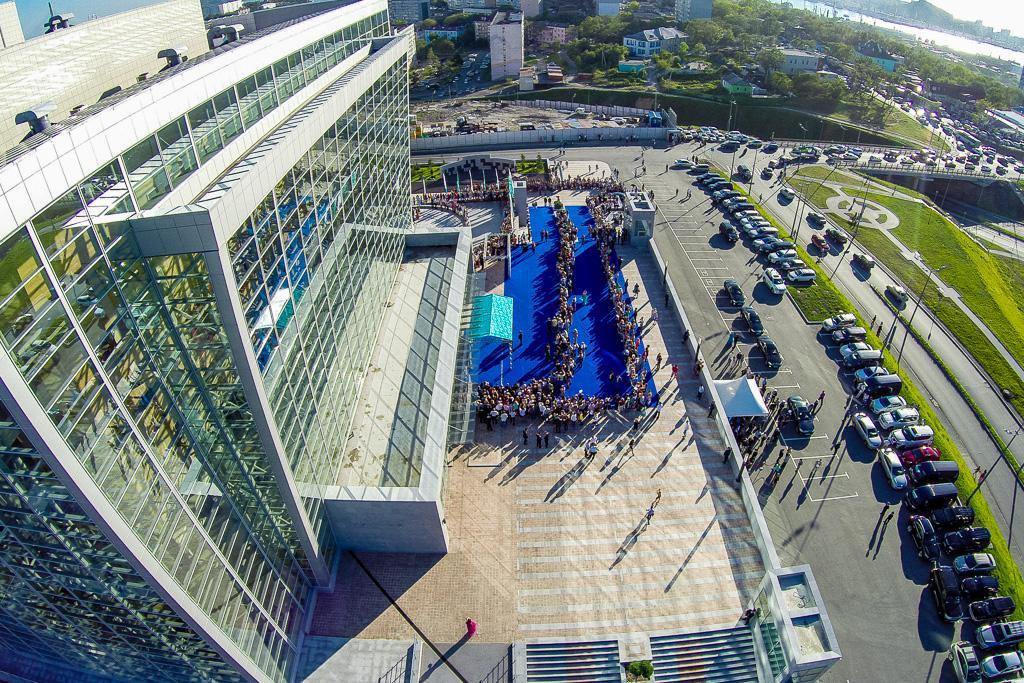 太平洋子午线电影节(Pacific Meridian Film Festival)开幕式。(2014年9月13日)。