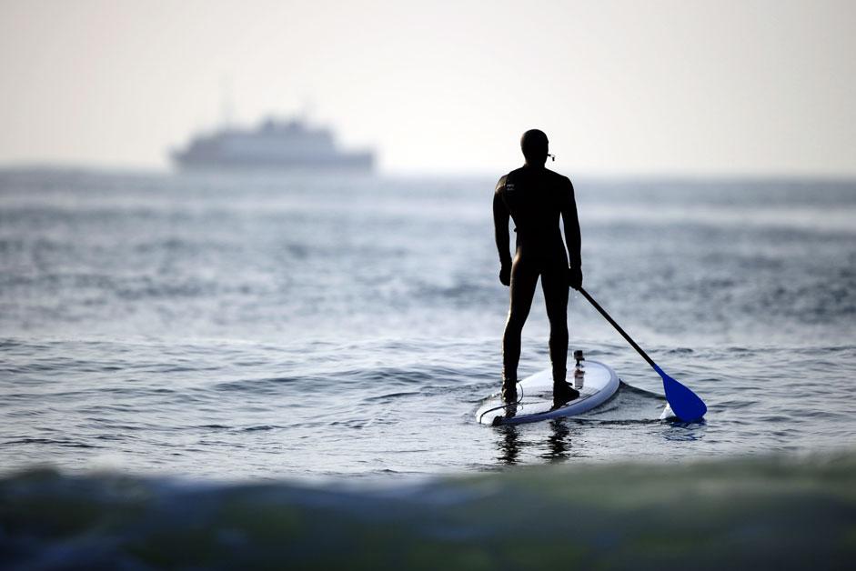 Winter surfing in Russian Far East