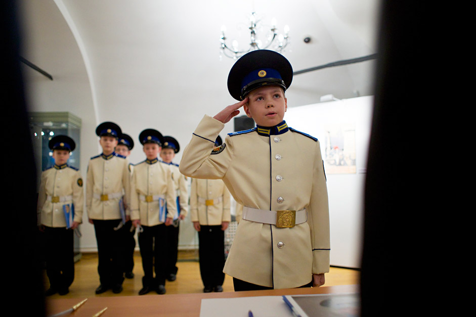 Students of the Moscow military music college