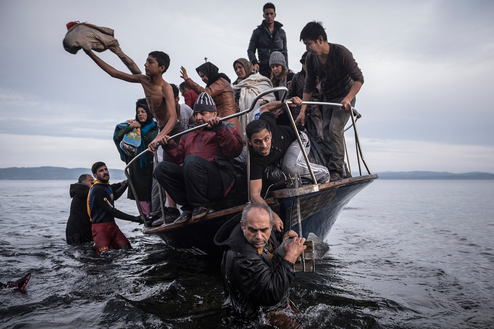 """Reporting Europe's Refugee Crisis"" by photographer Sergey Ponomarev"