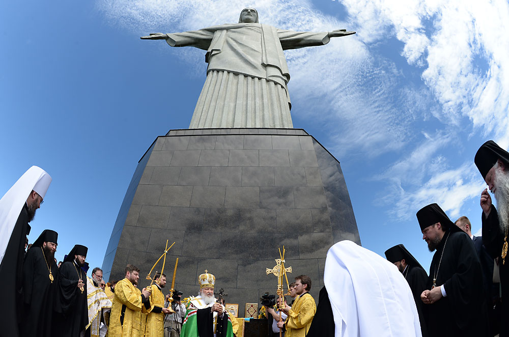 Patriarch Kirill Rio de Janeiro Christ the Redeemer Statue