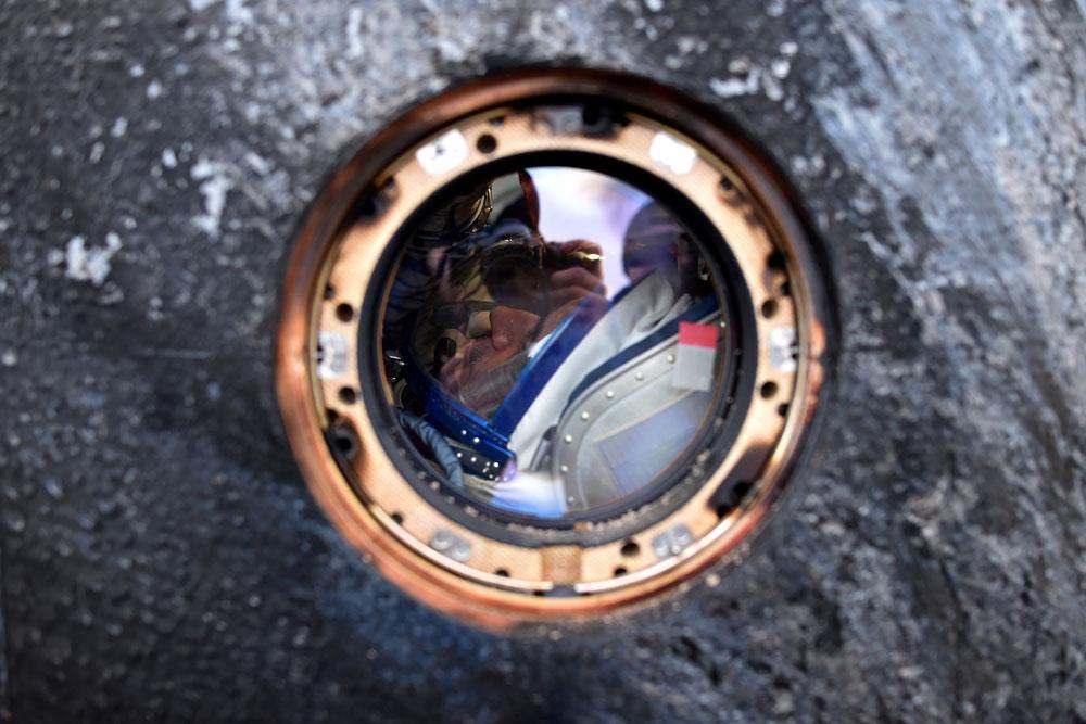 astronaut Scott Kelly and cosmonaut Kornienko returned