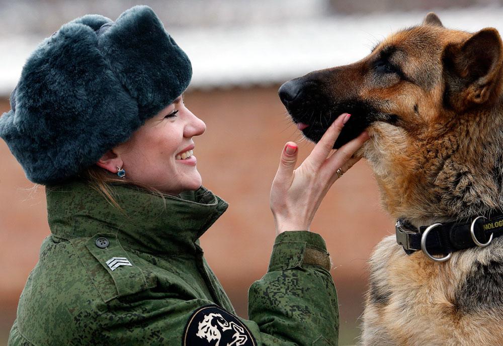 K9 Officer Sergeant Yevgeniya Shvetsel