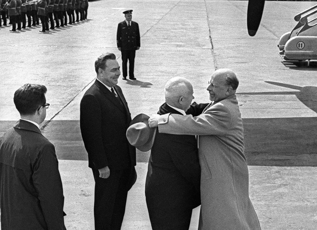 Gorbachev Khrushev Walter Ulbricht