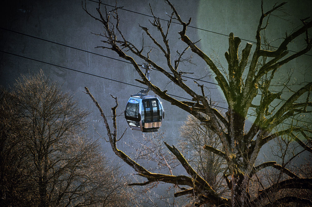 Olympia cableway at the Rose Khutor resort in Sochi