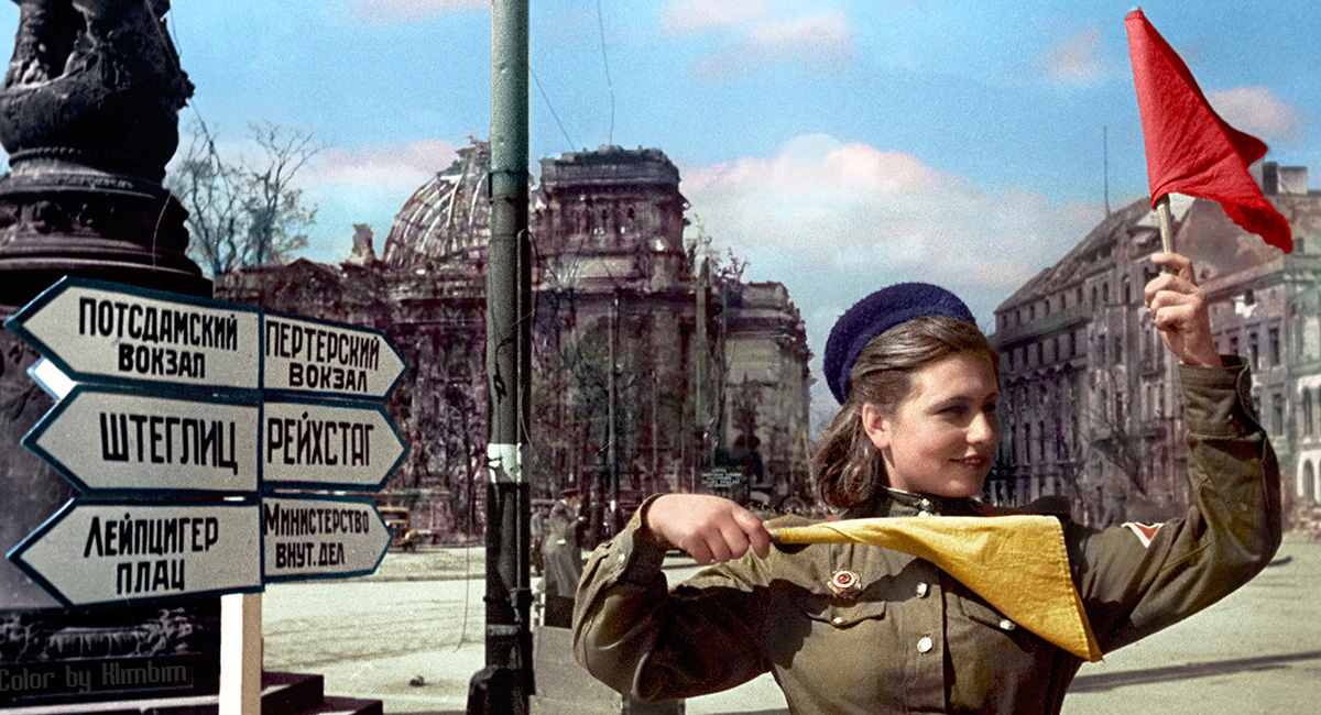 Colored second world war images