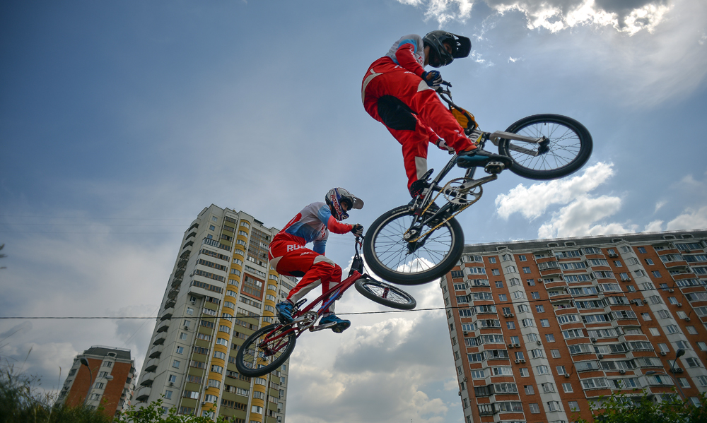 Athletes Russian national team in cycling