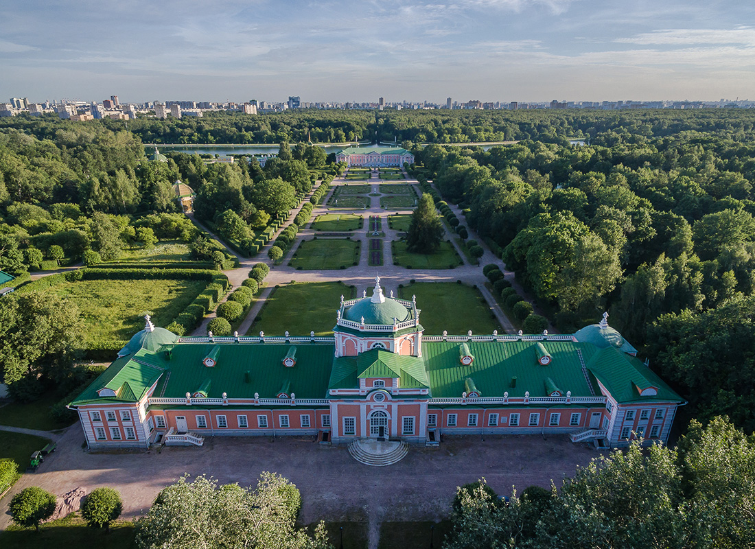 Copter view on Russian estates