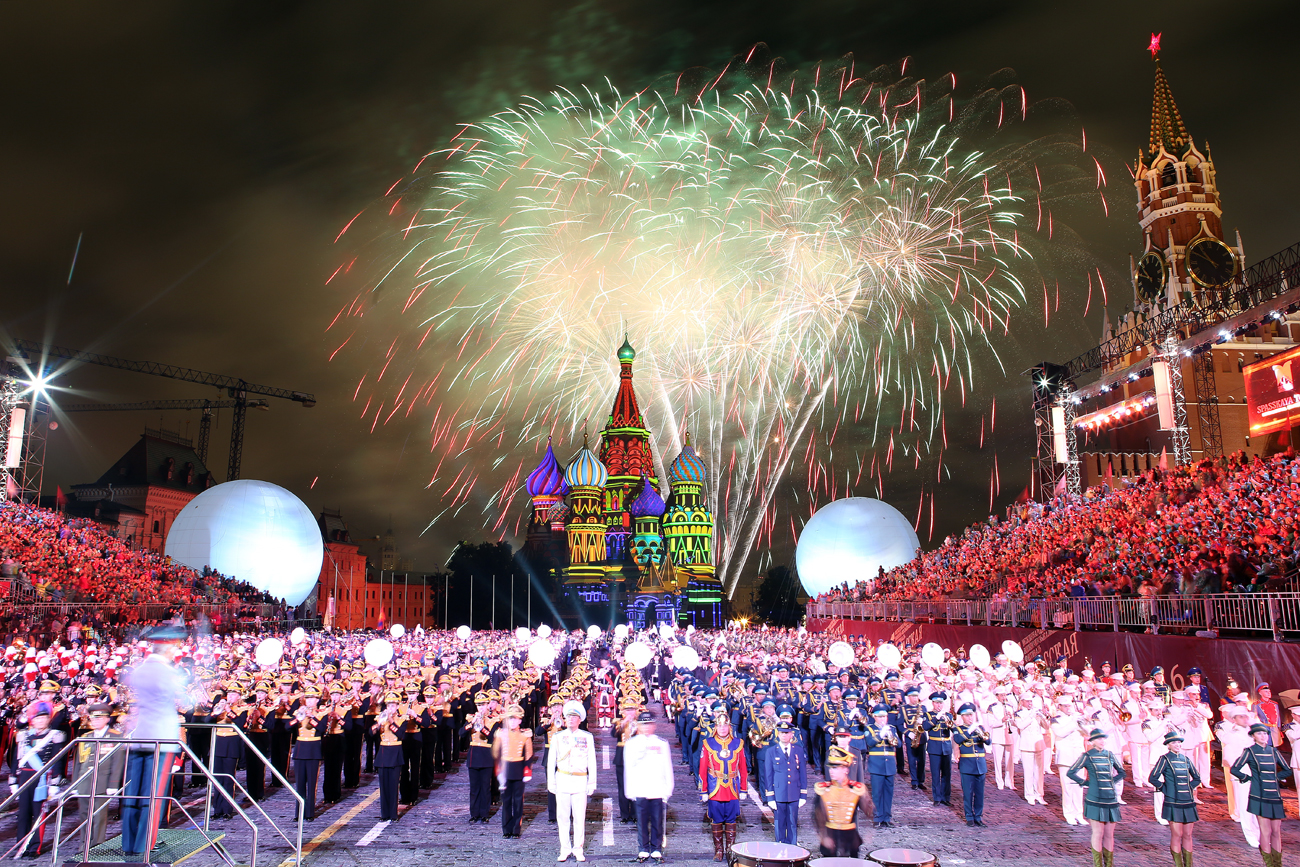 Closing ceremony of 2016 Spasskaya Tower Tattoo