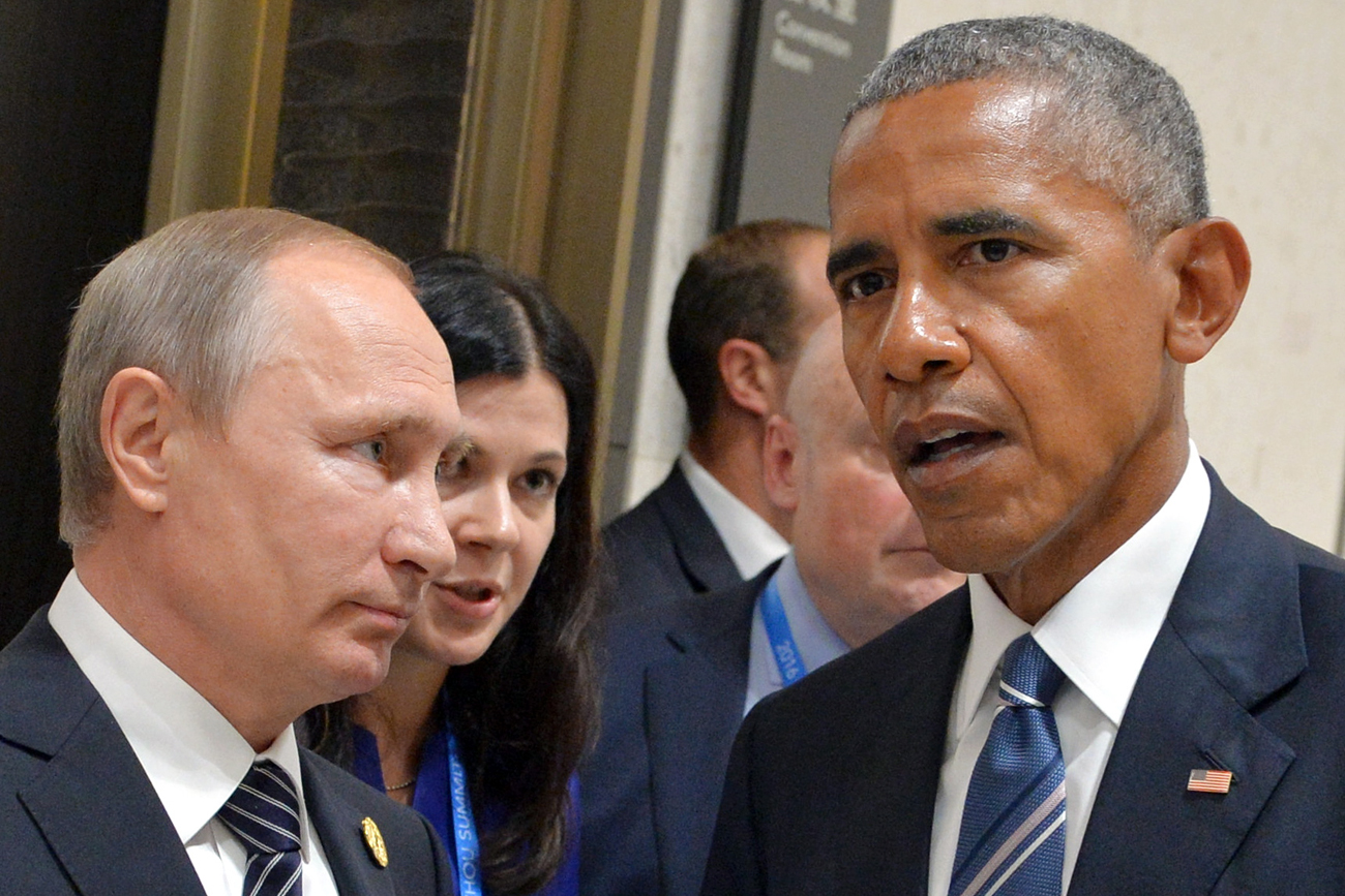 Russia's President Vladimir Putin (L) and US President Barack Obama