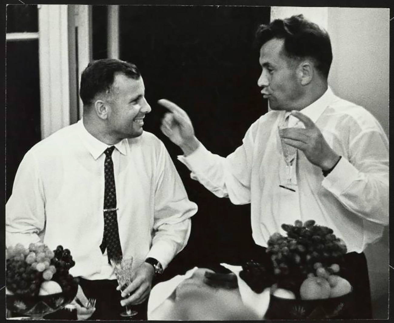Yuri Gagarin and Pavel Popovich