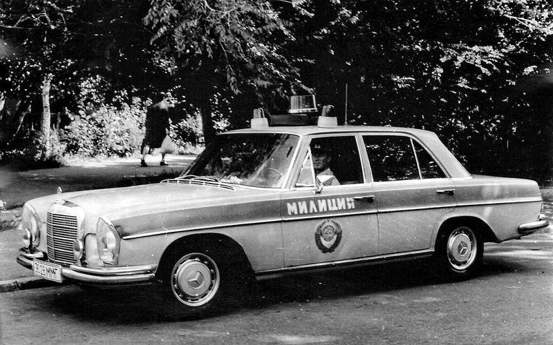 Soviet policemen cars