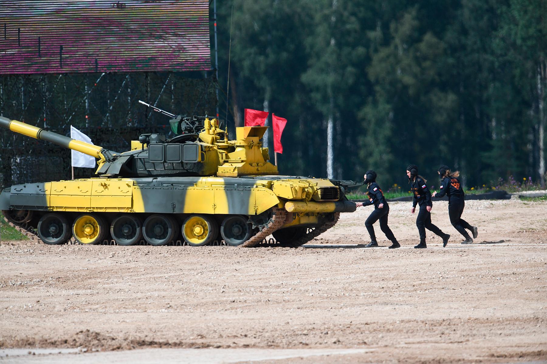 Female tank crew