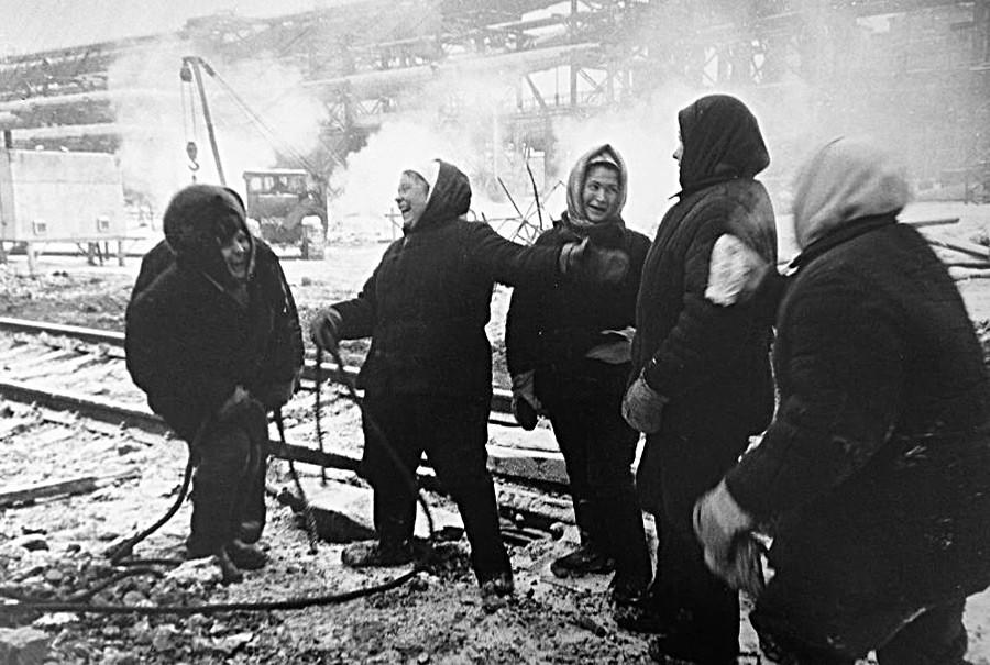 Soviet women workers