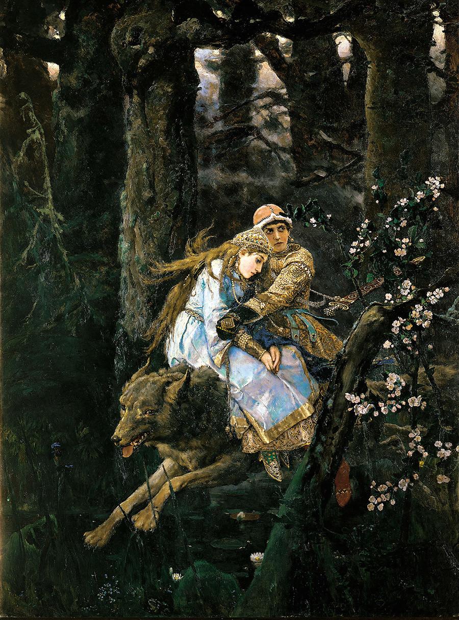 Viktor Vasnetsov - Ivan Tsarevich Riding a Grey Wolf