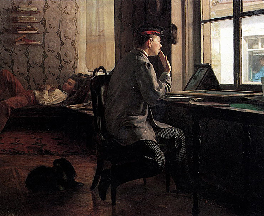 Ilya Repin - Studying for an Exam
