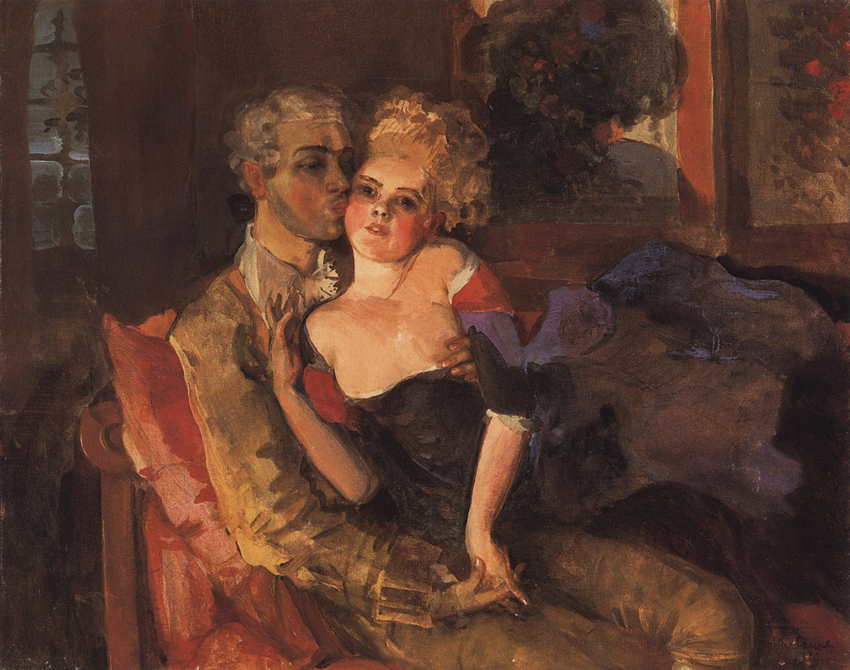 Konstantin Somov - The lovers