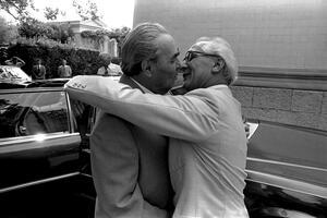 Leonid Brezhnev meets Erich Hoenecker. Crimea. 1982. Photo by Vladimir Musaelyan.