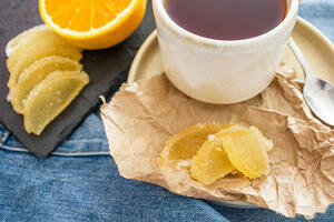 Lemon marmalade slices