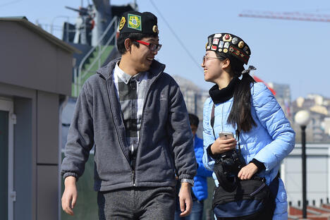 Chinese tourists in Vladivostok