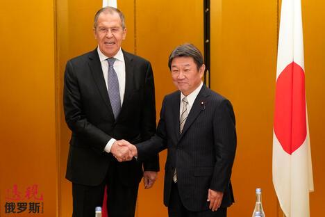 Sergey Lavrov and Toshimitsu Motegi