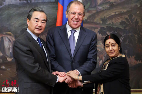 Foreign Ministers of Russia, India and China meet in Moscow CN