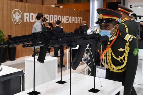 Rosoboronexport booth on International defence exhibition and conference IDEX-2021 in Abu-Dabi