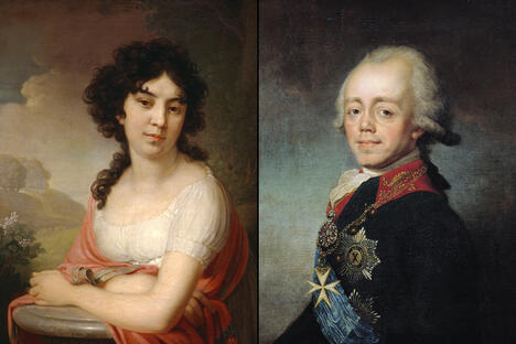Paul I and Anna Lopukhina