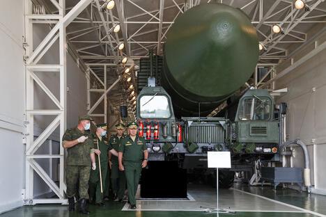 Sergey Shoigu is inspecting Strategic Missile Forces in the Teikovo of Ivanovskaya oblast