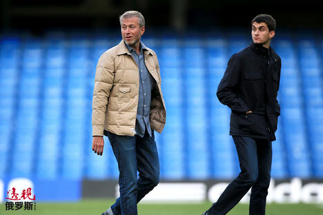 Roman Abramovich with son Arkadiy CN