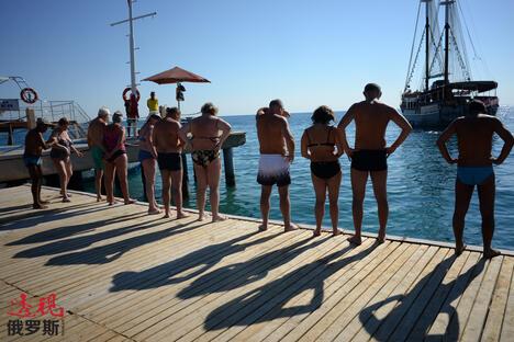 Russian tourists in Turkey