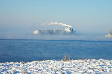 Transporting LNG in Sakhalin region