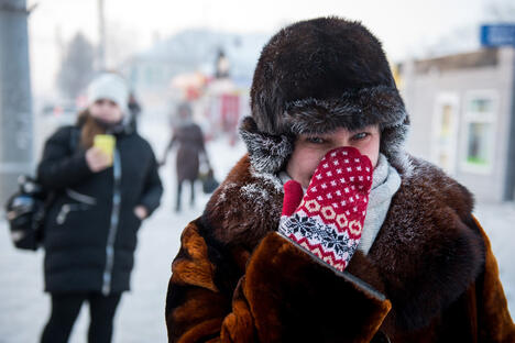 Omsk hit by extreme cold weather
