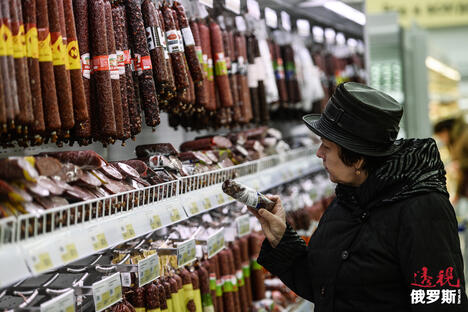 Sausages in a supermarket