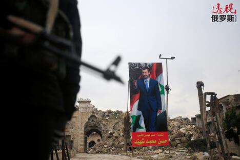 Assad poster in Aleppo