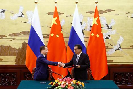 Medvedev and Li Keqiang