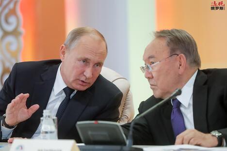 Putin and Nazarbaev