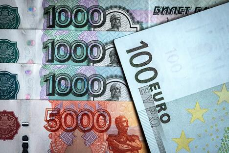 Ruble and euro