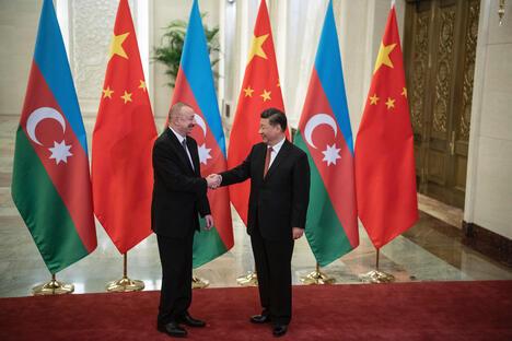 Xi Jinping and Ilham Aliyev