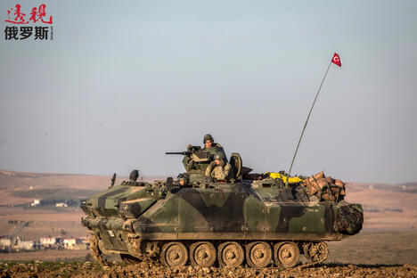 Turkish army in Aleppo