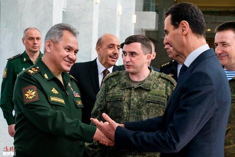 Sergey Shoigu and Bashar al-Assad
