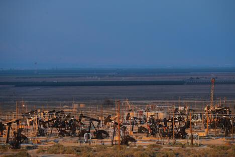 Oil plant in California, USA