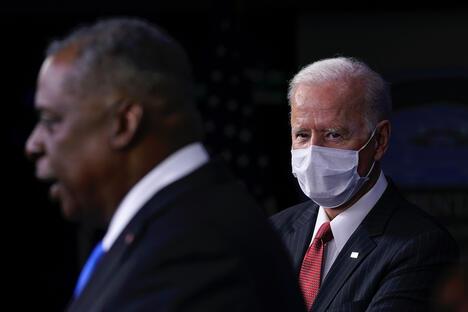 President Joe Biden and Defense Secretary Lloyd Austin